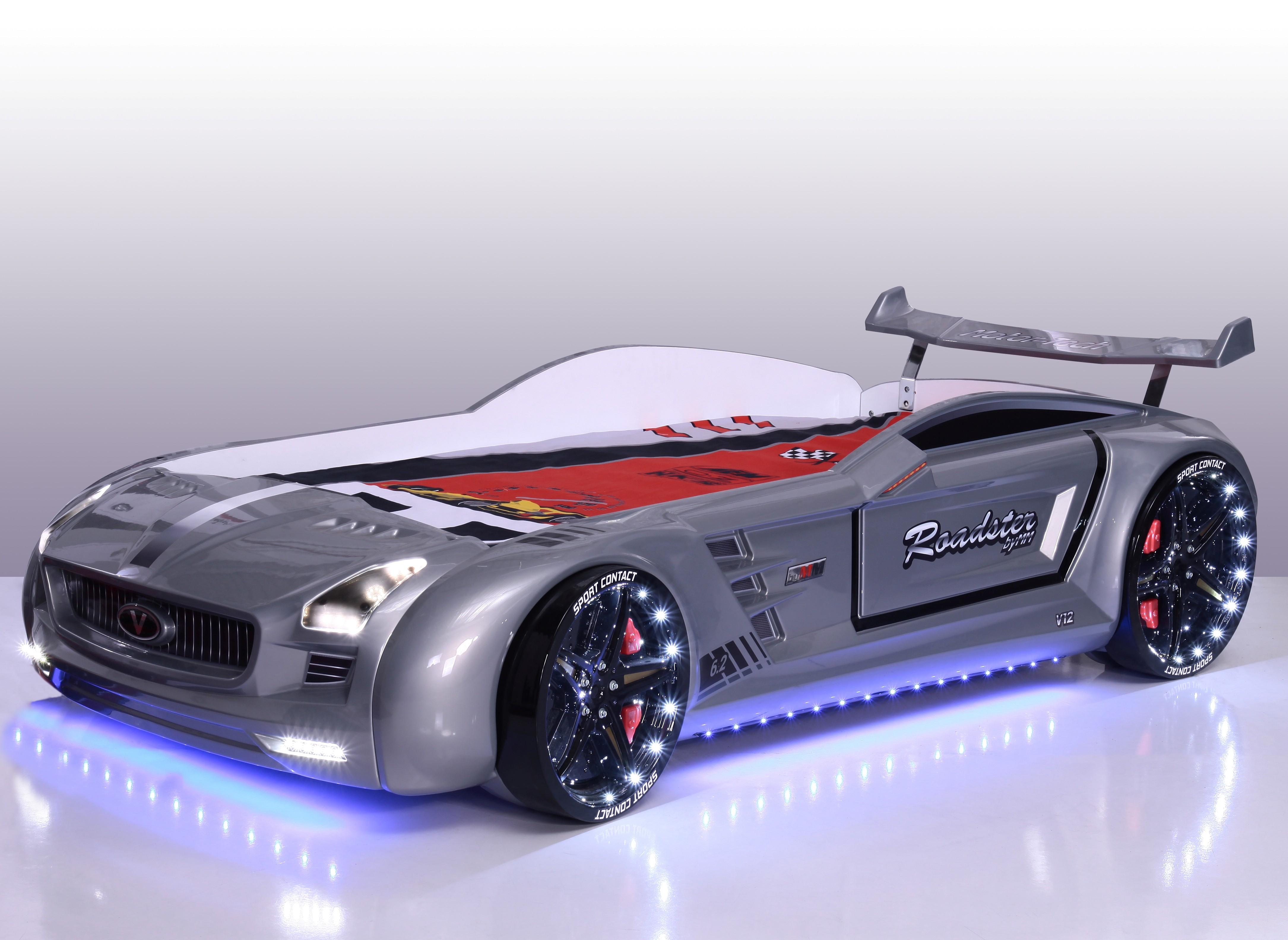 Roadster autobed Silver edition Kinderkamer, kinderbed ...