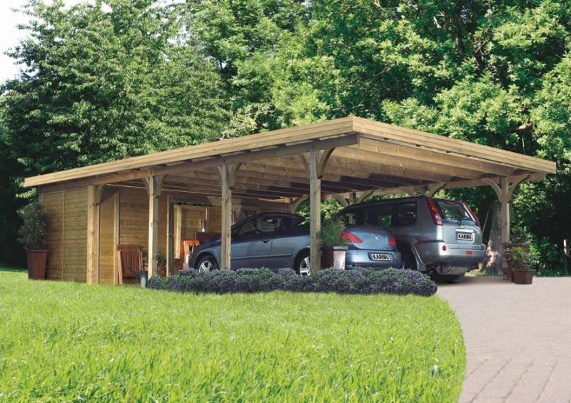 Karibu premium carport dubbel 3 540 x 860 cm kinderkamer for Karibu carport