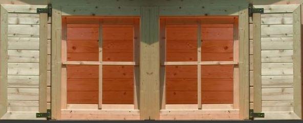 babykamer ledikant bij raam: karibu vensterluiken dubbel raam, Deco ideeën