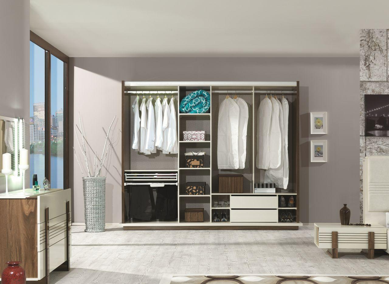 Kledingkast met gordijn kasten en opbergmeubelen ikea slaapkamer op maat lactate - Kleine kledingkast ...