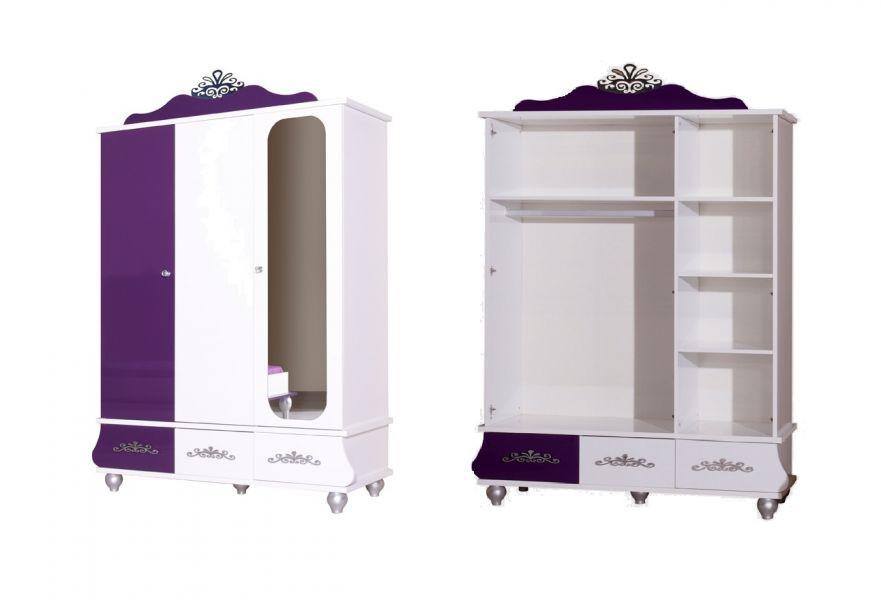 Kinderkamer Kledingkast : deurs kledingkast roze/wit koopt u bij Huis ...