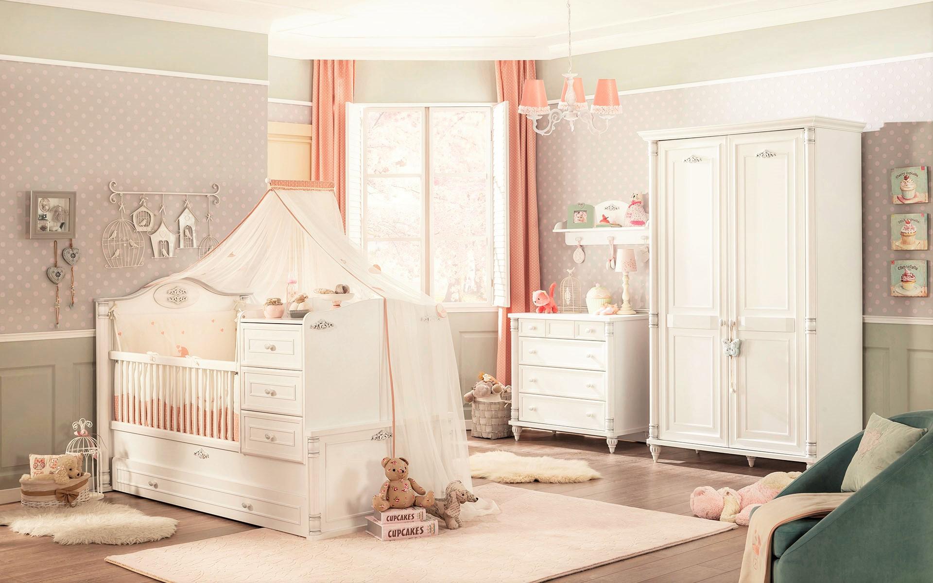 Peuter Slaapkamer Compleet : Home Babykamer Babykamers Romantic baby ...