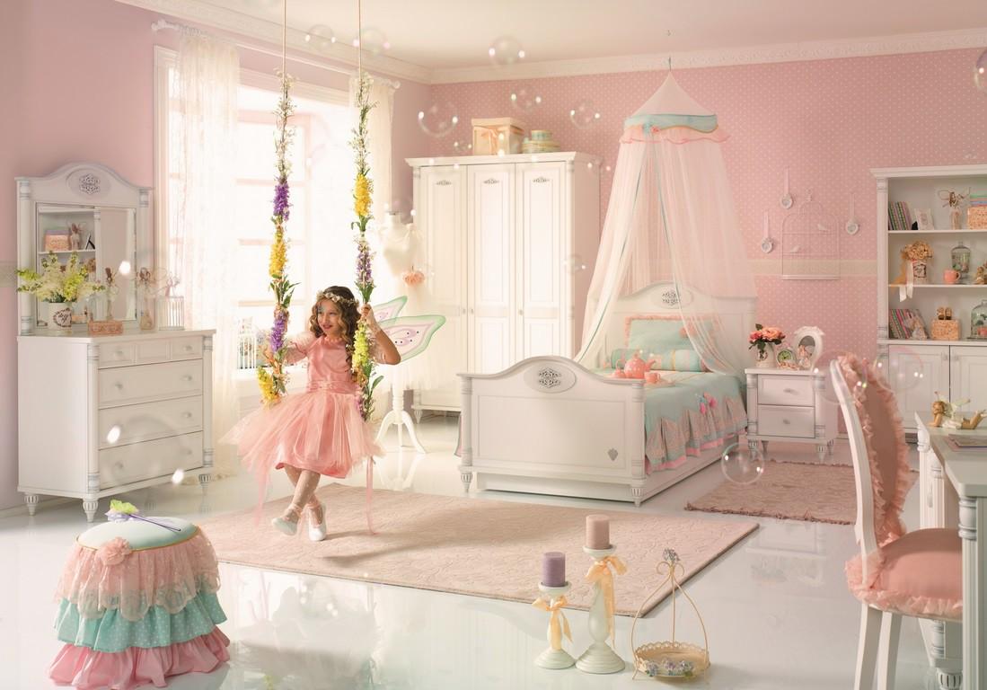 Romantic meisjes bed kinderkamer kinderkamer kinderbed terrashaard en barbecues - Thema slaapkamer meisje ...