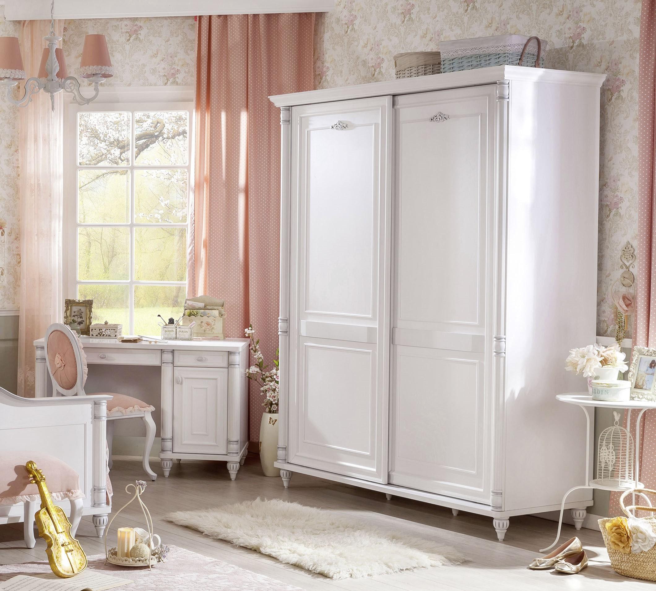 Romantic schuifdeur kledingkast meisjes kamer Kinderkamer, kinderbed, terrashaard en barbecues