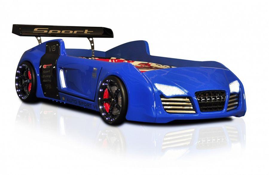 Autobed Slaapkamer : Autobed Racebed V8 Turbo blauw autobedden ...