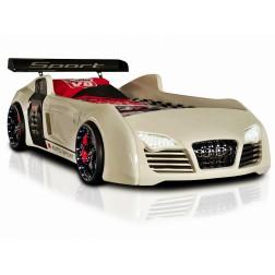 Autobed / Racebed V8 Turbo | wit Kinderbed Jongensbed