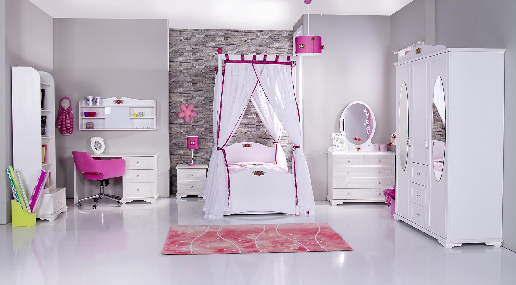 Gordijnen idee meisjeskamer for Meisje slaapkamer idee