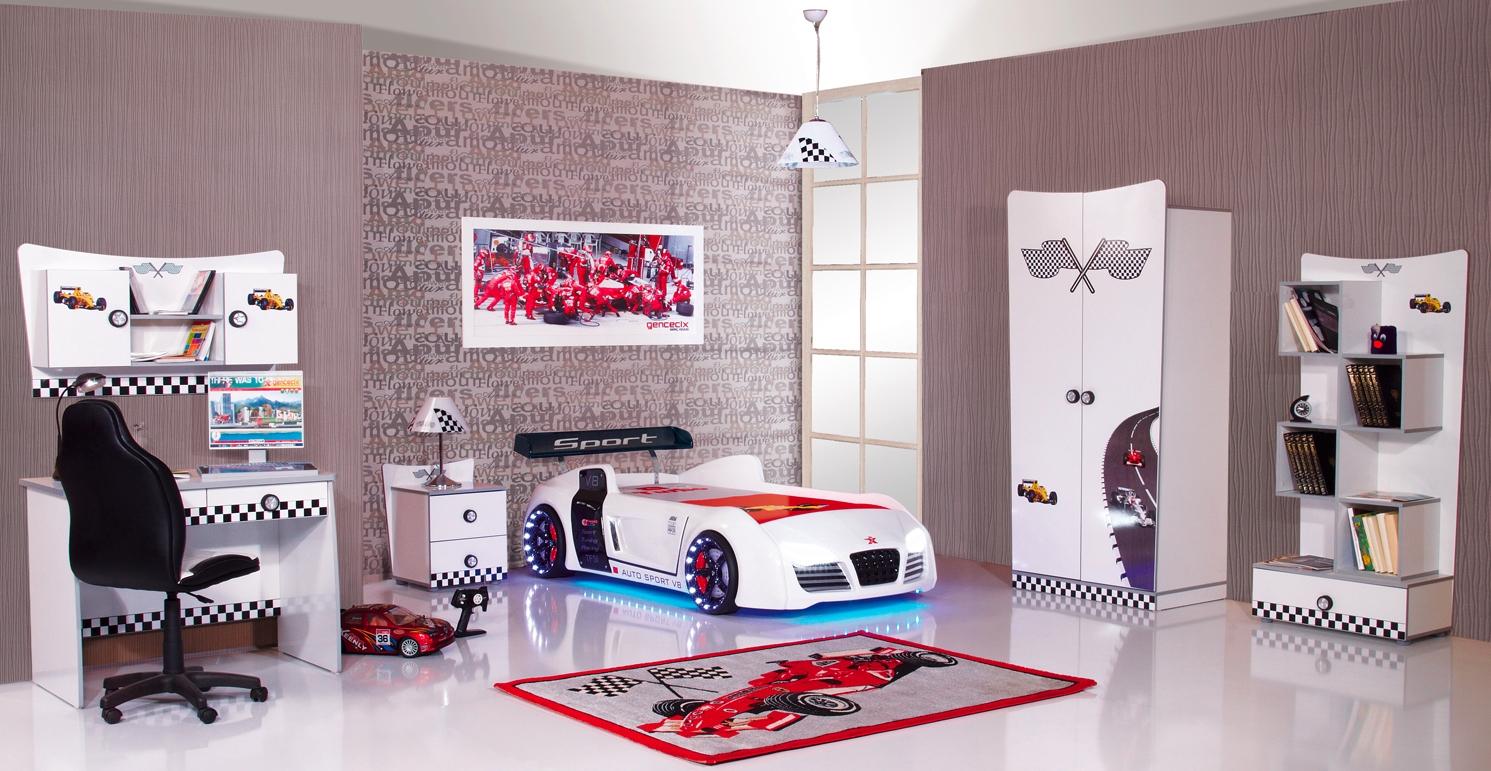 Formula race auto kamer kinderkamer kinderkamer kinderbed terrashaard en barbecues - Model kamer jongen jaar ...