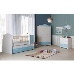 Babykamer jongens baby blauw