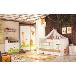 Safari dieren babykamer peuterkamer
