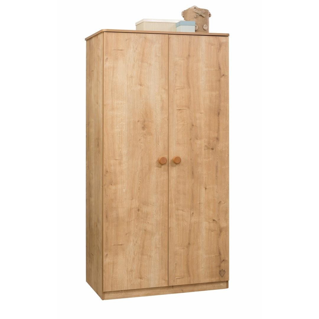 Tienerkamer Basic Wood.Stockholm 2 Deurs Kledingkast Kinderkamer Kinderkamer Kinderbed