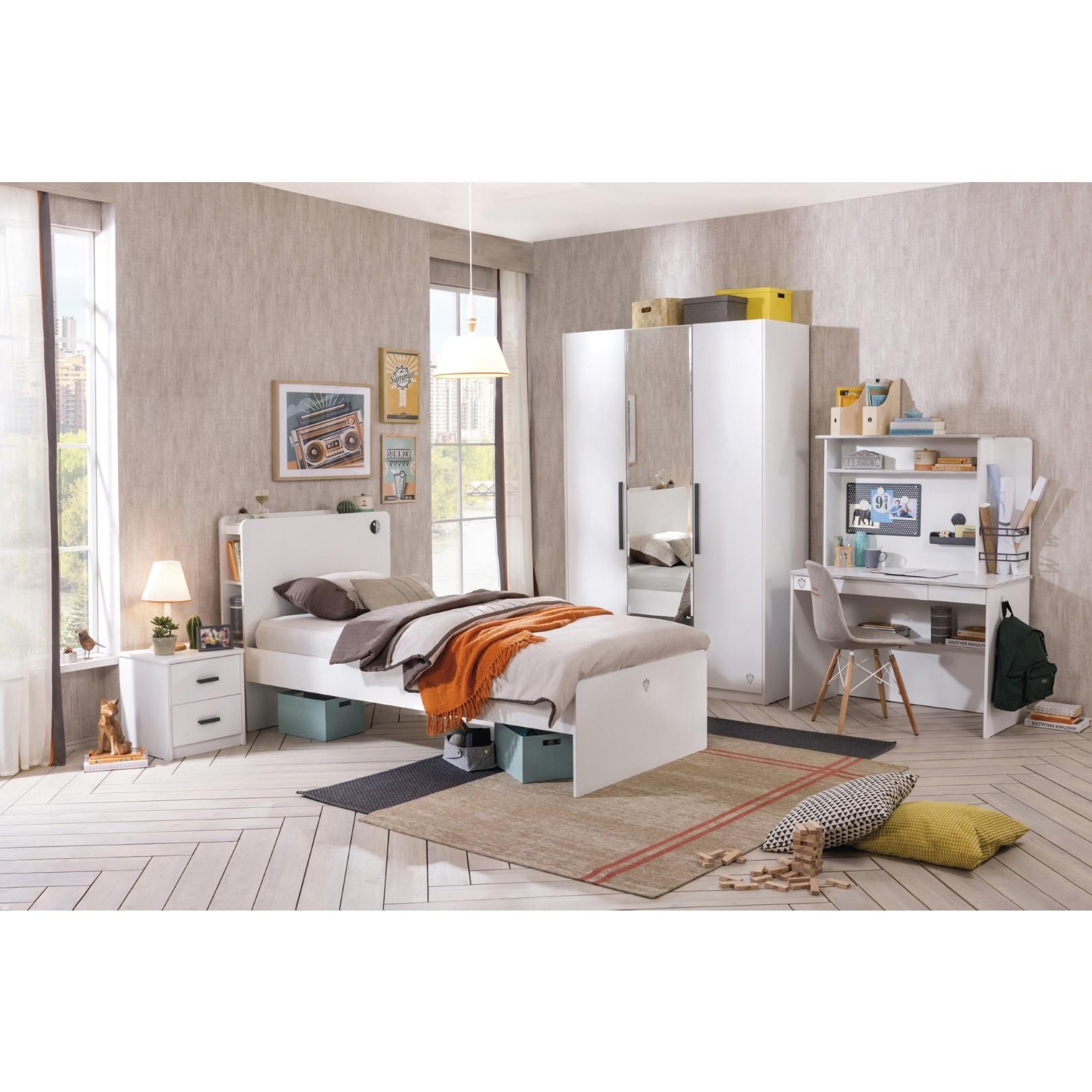 California nachtkastje wit tienerkamer gratis verzending for Nachtkastje meidenkamer