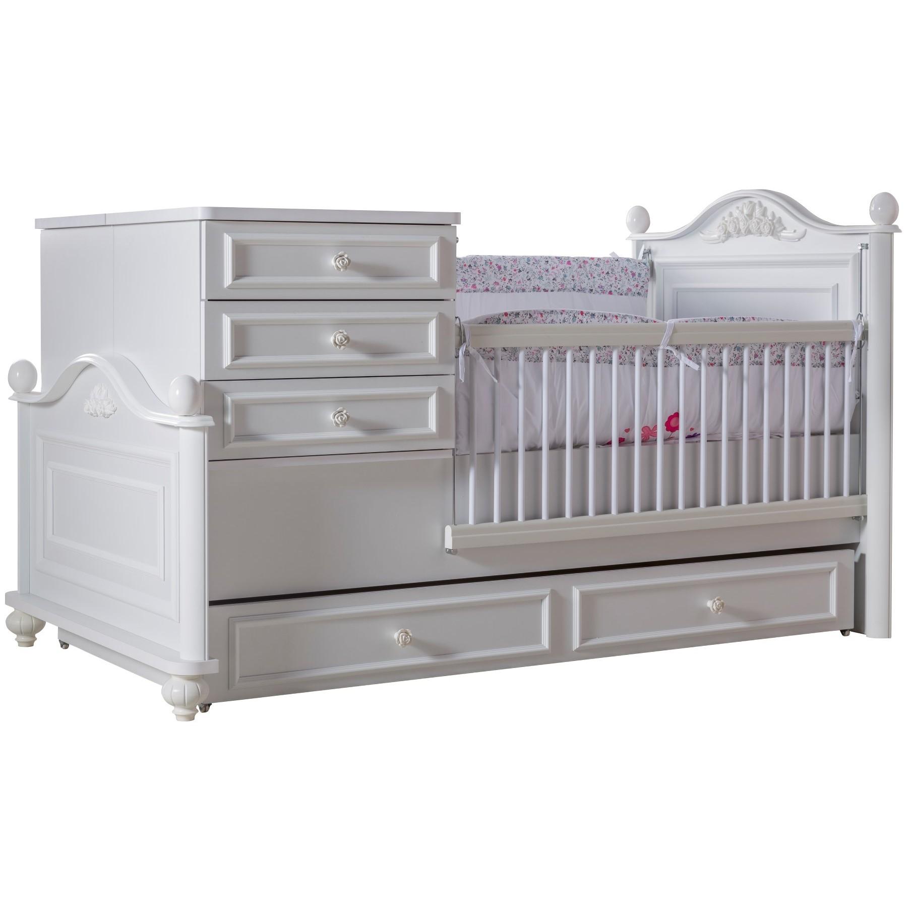 Baby En Peuterbed.Bella Babybed Ledikant Meegroeibed Babykamer Kinderkamer Kinderbed