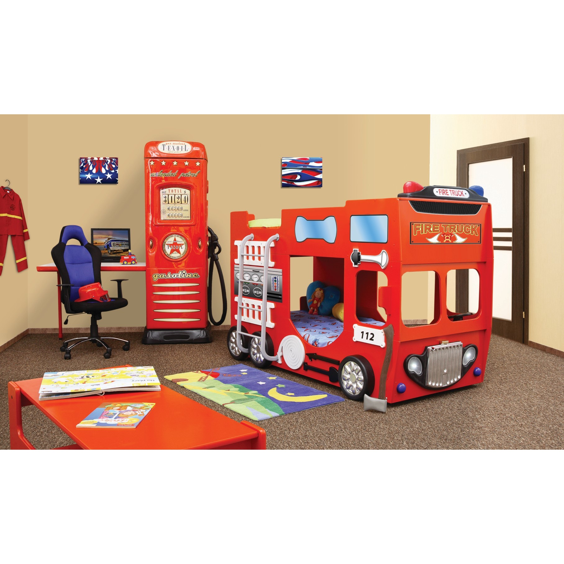 Brandweer Auto Stapelbed.Brandweerbed Stapelbed Voor De Kinderkamer Kinderkamer