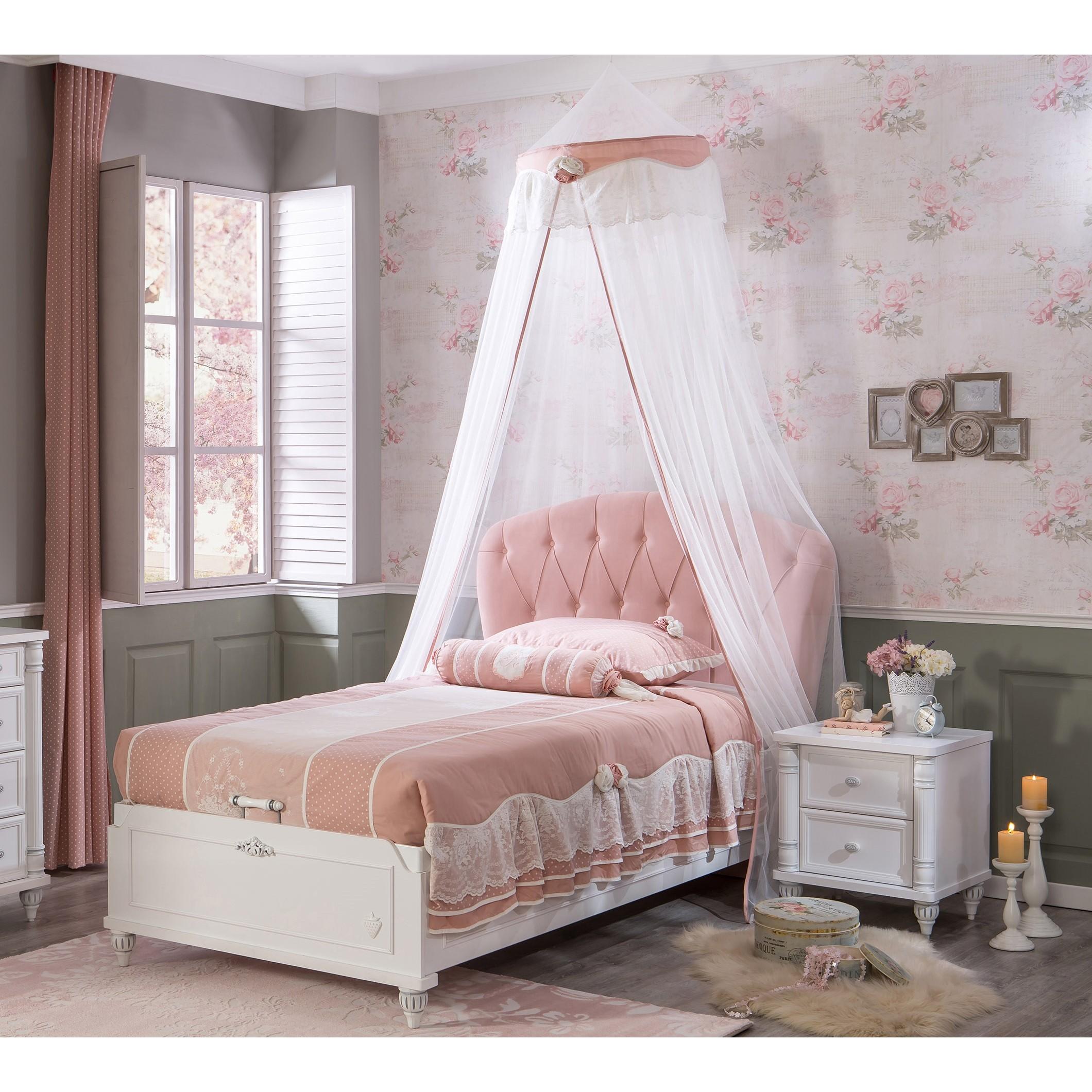 Witte sheer gordijn Romantic meisjeskamer Kinderkamer, kinderbed ...