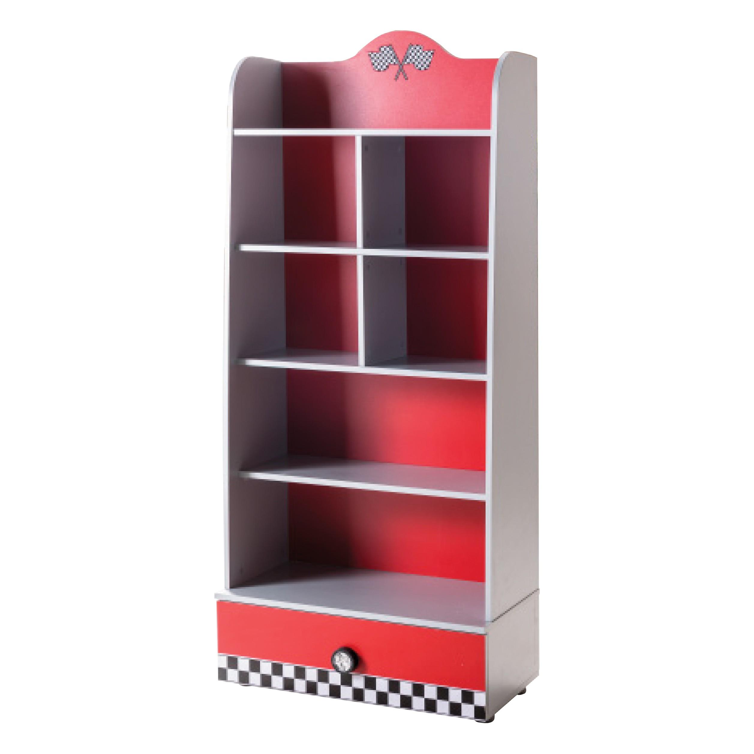 Boekenkast V power rood kopen bij Huis en Tuin wereld! Kinderkamer ...
