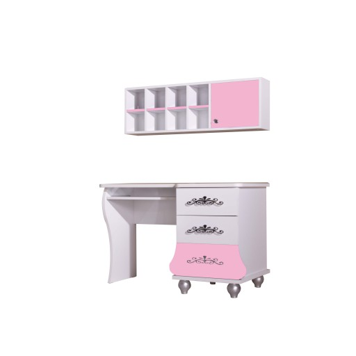Bureau prinses Roze / Wit