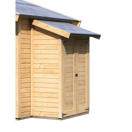 Aanbouwkast karibu tuinhuisje eco onbehandeld