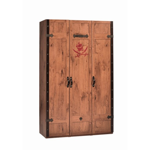 Black Pirate kledingkast 3 deuren