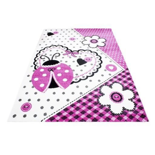 Bloemen tapijt vloerkleed meisjeskamer kinderkamer roze