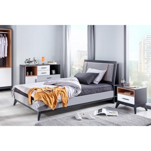 Boston tienerbed jongens slaapkamer twijfelaar 200 x 120