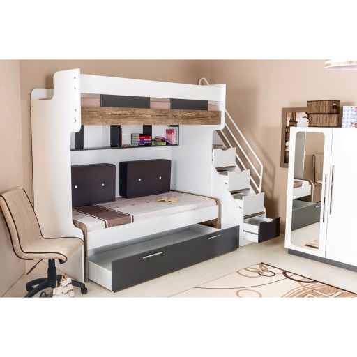 Compact bed kinderkamer tienerkamer jongenskamer kledingkast