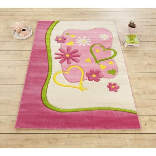 Elsa tapijt vloerkleed, tapijt meisjeskamer, vloerkleed kinderkamer, vloerkleed prinsessen, tapijt prinsessenkamer, roze vloerkleed
