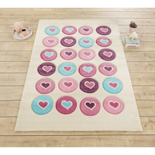 Love tapijt vloerkleed, meisjestapijt, prinsessenkamer, meisjeskamer, tapijt meisjes, vloerkleed roze