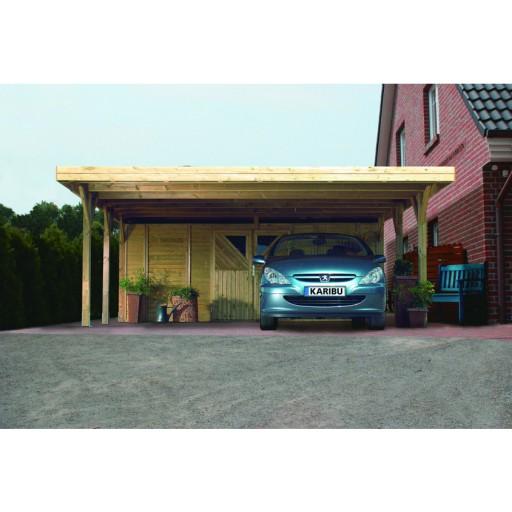 Karibu classic carport dubbel 3 598 x 860 cm kinderkamer for Karibu carport