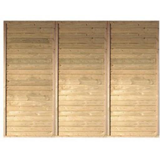 Karibu Achterwand voor garage/carport | 250 x 200