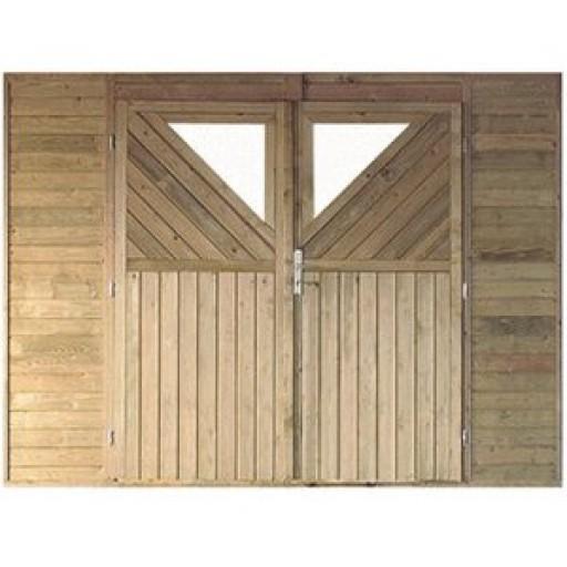 Karibu Frontelement enkel voor garage/carport | 270 x 200