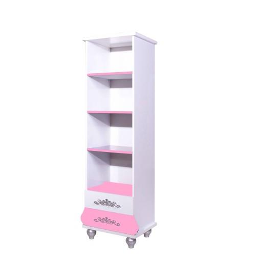 Boekenkast Prinses Roze/Wit