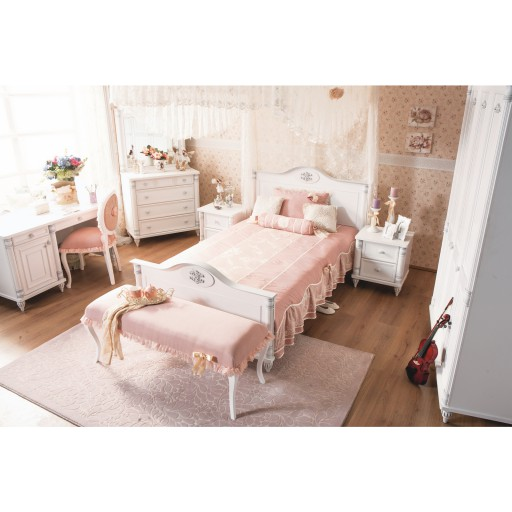 Romantic meisjes bed kinderkamer