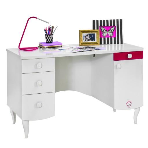 Sweety bureau wit, meisjesbureau, kinderbureau wit, meisjeskamer