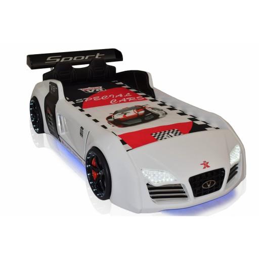 Autobed / Racebed V8 Sport | wit kinderbed jongensbed