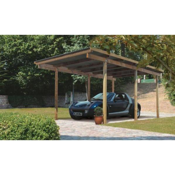 karibu carport enkel 1 304 x 490 cm kinderkamer kinderbed terrashaard en barbecues. Black Bedroom Furniture Sets. Home Design Ideas