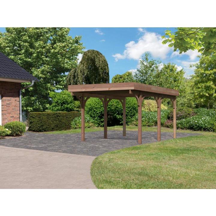 Karibu douglassparrenhout carport enkel 1 318 x 480 cm for Karibu carport