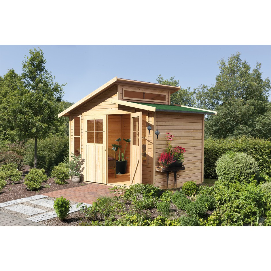 karibu tuinhuis grauburg 7 onbehandeld 306 x 302 cm kinderkamer kinderbed terrashaard en. Black Bedroom Furniture Sets. Home Design Ideas