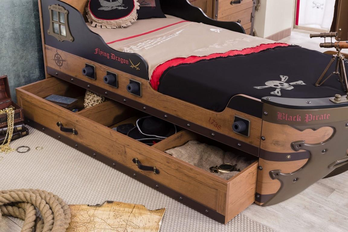 black pirate schipbed jongenskamer afgerond kinderkamer kinderbed terrashaard en barbecues. Black Bedroom Furniture Sets. Home Design Ideas