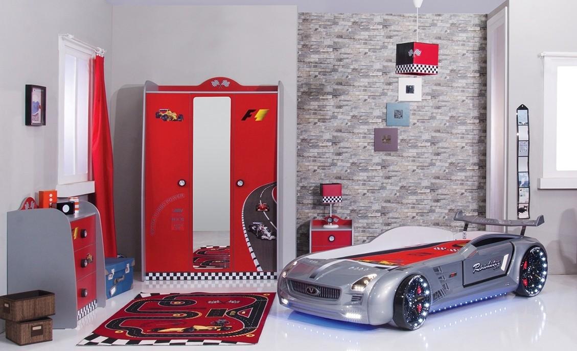 Roadster autobed silver edition kinderkamer kinderbed terrashaard en barbecues - Kamer blauwe jongen grijs ...