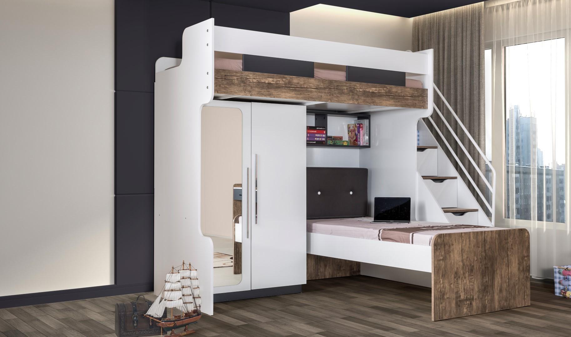 tienerkamer met hoogslaper weihnachten 2017. Black Bedroom Furniture Sets. Home Design Ideas