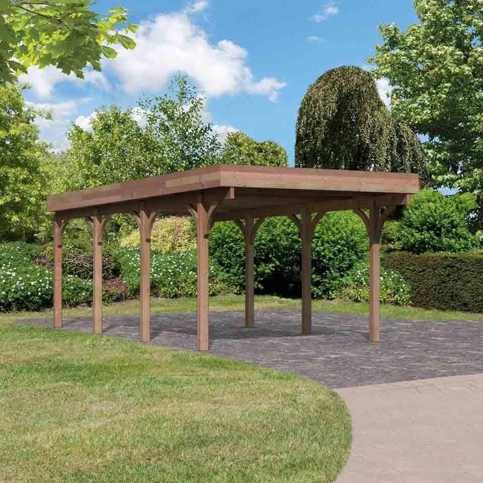 Karibu douglassparrenhout carport enkel 2 318 x 670 cm for Karibu carport