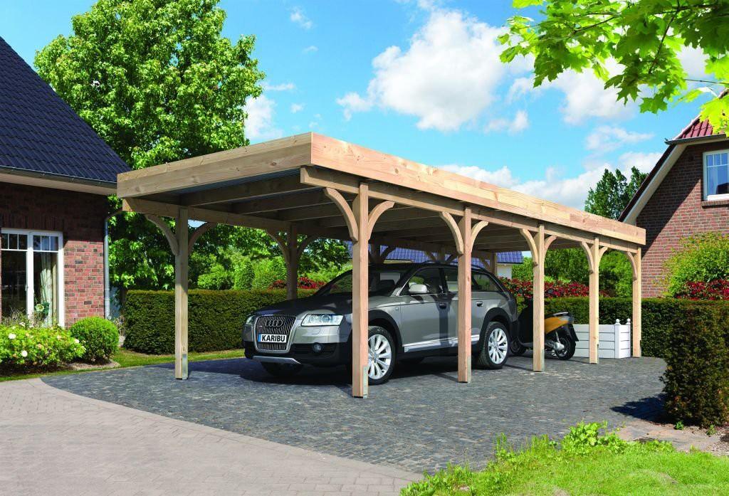 Karibu douglassparrenhout carport enkel 3 318 x 860 cm for Karibu carport