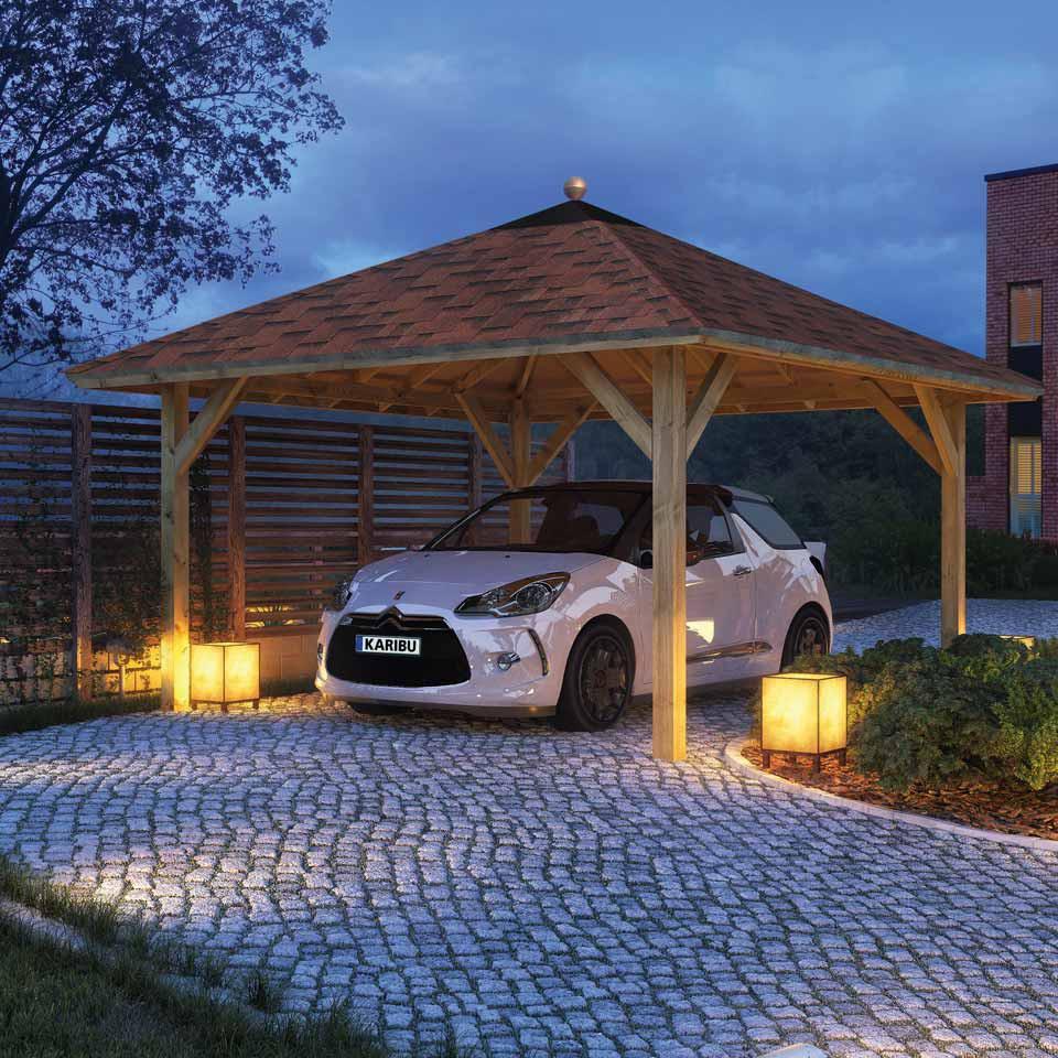 karibu classic carport kirn 1 431 x 431 cm kinderkamer kinderbed terrashaard en barbecues. Black Bedroom Furniture Sets. Home Design Ideas