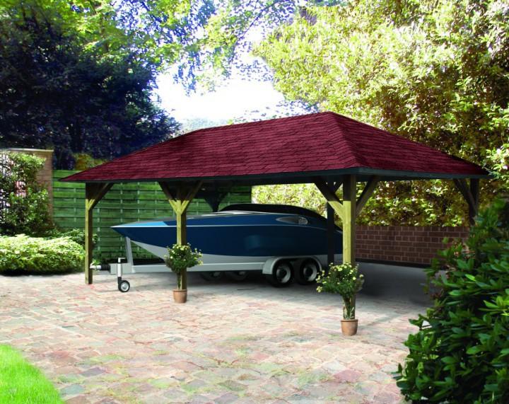 Karibu classic carport kirn 2 338 x 592 cm kinderkamer for Karibu carport
