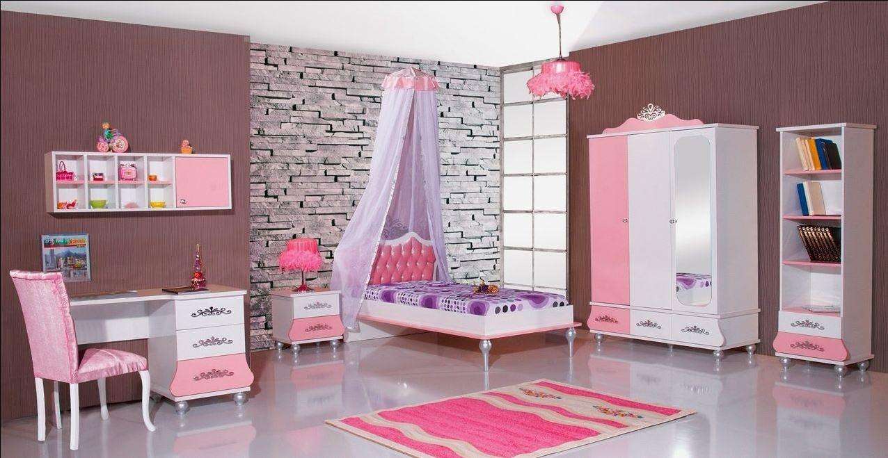 Prinsessenkamer roze 3 delige aanbiedingsset kinderkamer kinderbed terrashaard en barbecues for Slaapkamer decoratie voor volwassenen