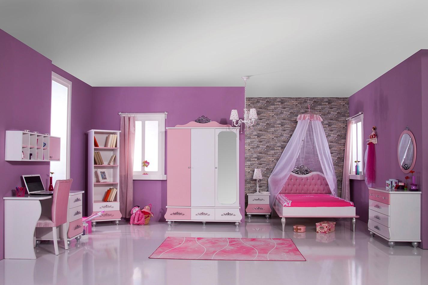 Prinses 3 deurs kledingkast roze wit koopt u bij huis en tuinwereld kinderkamer kinderbed - Kamer modern meisje ...