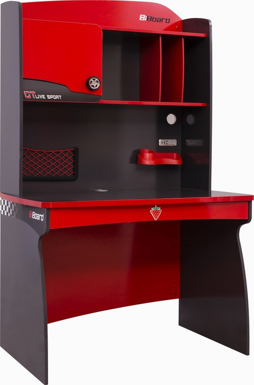 champion racer auto bureau jongenskamer compleet kinderkamer kinderbed terrashaard en barbecues. Black Bedroom Furniture Sets. Home Design Ideas
