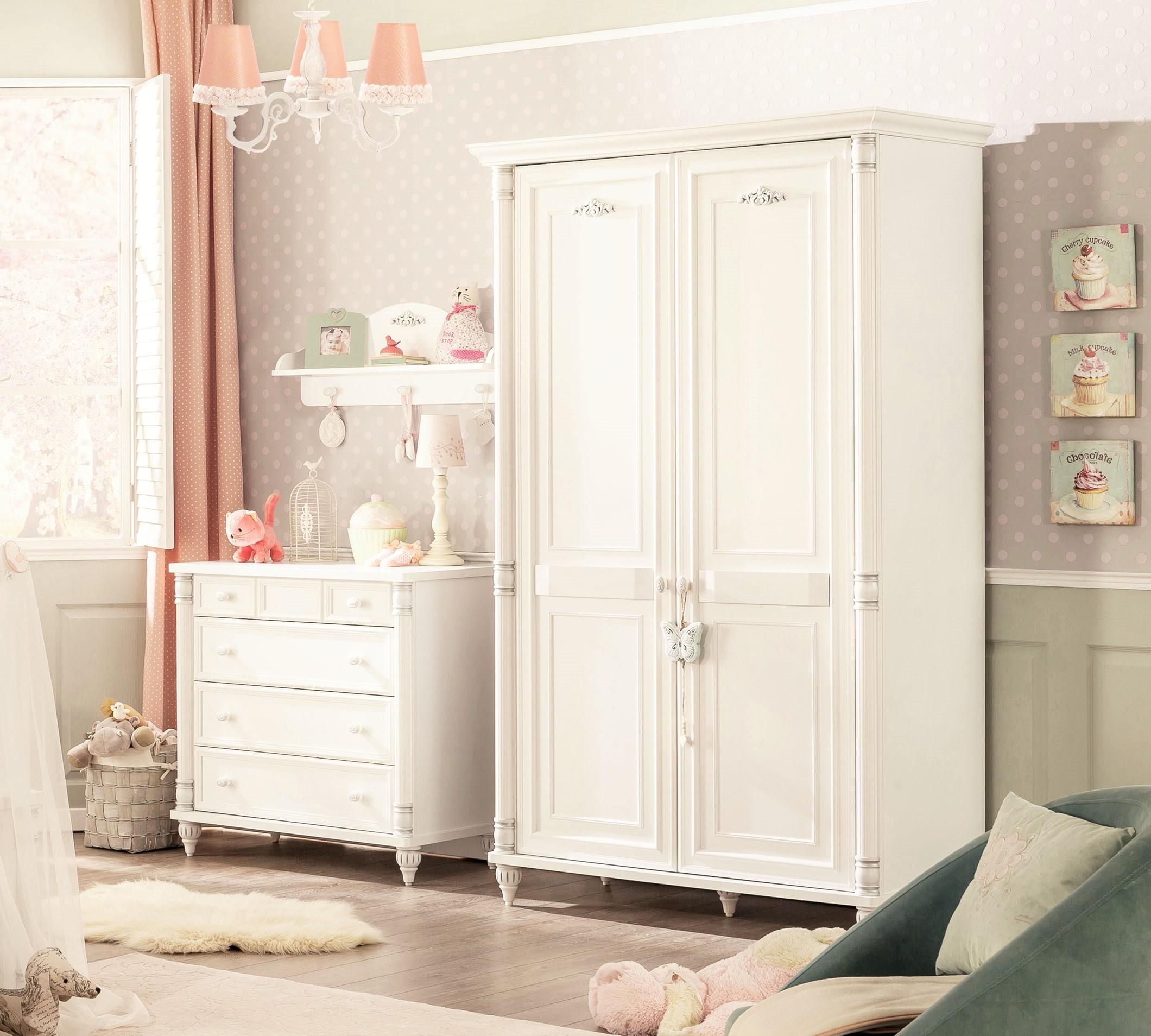 romantic 2 deurs kledingkast babykamer kinderkamer