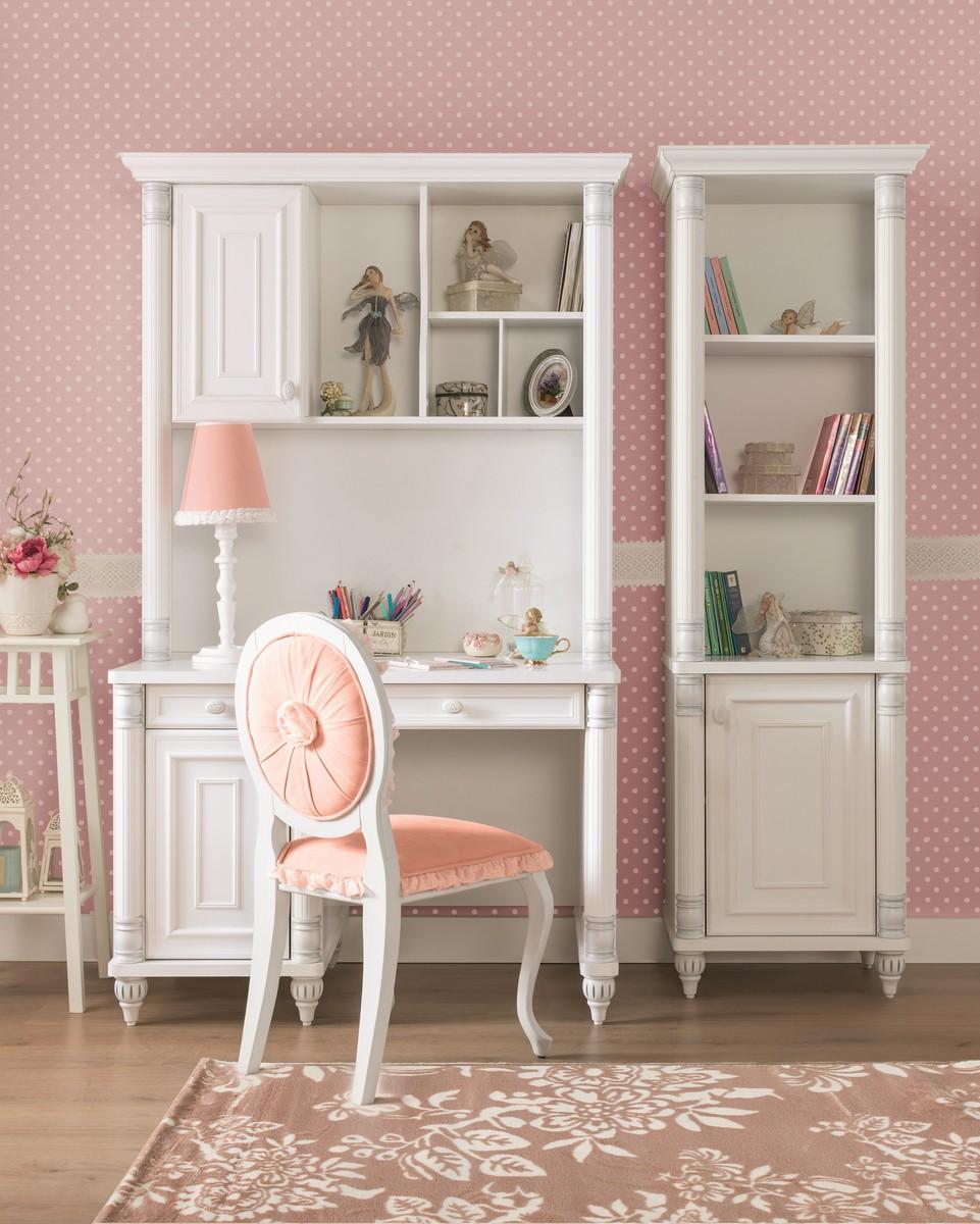 Romantic boekenkast meisjes kamer kinderkamer kinderbed terrashaard en barbecues - Roze kleine kamer ...